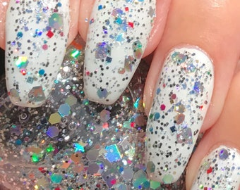 Always a Rainbow  glitter bomb nail polish