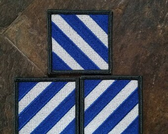 Lot of 3 Third Infantry Division Patches
