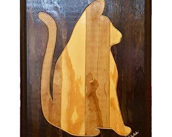 Art - Artwork - Home Decor - Decor - Kool Kitty Wooden Art