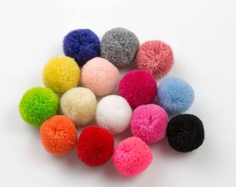 Pom Pom- 17mm - High Quality - 4 pcs Per Order- Perfect for Earrings