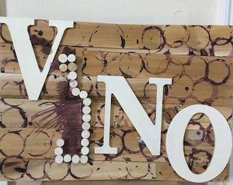 wooden wine decor