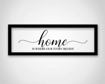 Home is where our story begins SVG File: Silhouette Cameo, Cricut, Cut File, DFX SVG Stencil