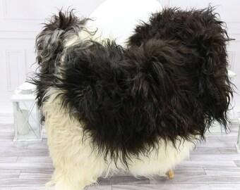 Icelandic Sheepskin | Real Sheepskin Rug | Brown White Sheepskin Rug | Fur Rug | #islsept17