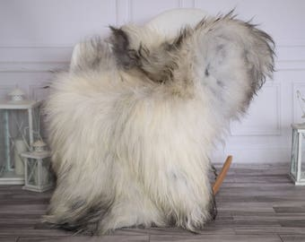 Icelandic Sheepskin | Real Sheepskin Rug | I Gray Ivory Sheepskin Rug | Fur Rug | Christmas Decorations #novisl6