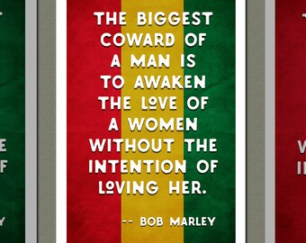 Bob Marley Quote 13x19 Art Print,matte Paper,archival Ink,giclee Print,