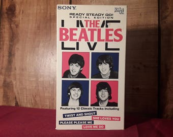The Beatles  LIVE VHS  1985, 12 Songs Recorded Live in 1964, Ready Steady Go! Dave Clark International Video 45, b/w 20 Min