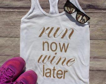 Run Now Wine Later - Women's Tank