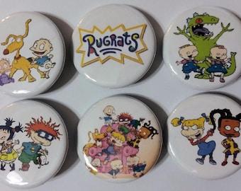 Rugrats Badge Button Pin Set of 6