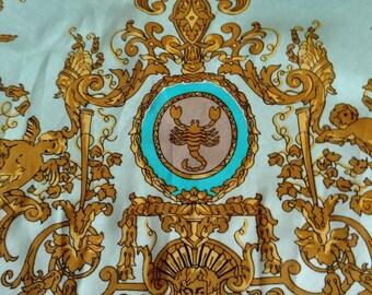 Silk zodiac scarve.
