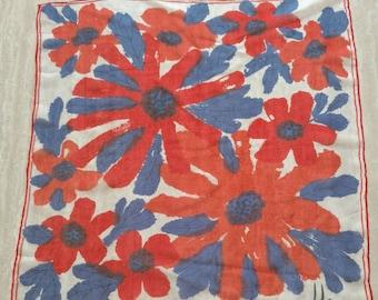 Sheer Floral Vera scarve