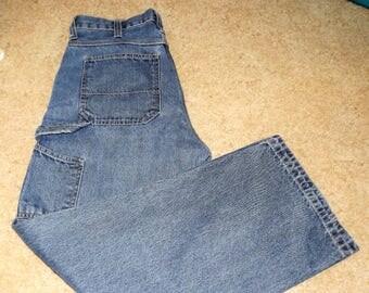 Vintage, NOS, Mens Blue Jeans, Painters Jeans, Mens Jeans, Gift For Him, Vintage Clothing, Jeans, Relaxed Jeans, Size Men 30 jeans,