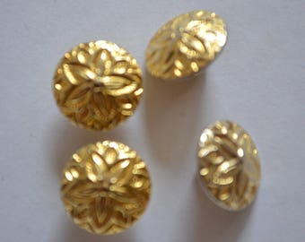 set of Golden buttons fantaisiel