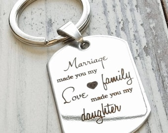 New Daughter in Law Personalized Engraved Key Chain