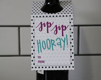 Wine Gift Tag | All Occasion | Sip Sip Hooray