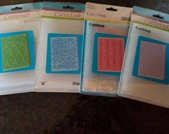 Cuttlebug Embossing Folders/ Four