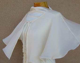 Wedding Cape, Bridal Cape, Silk Wedding Wrap, Dress Cover Up, Bridal Cover Up, Bridal Capelet, Wedding Wraps, Silk Cape, Cape Mariage