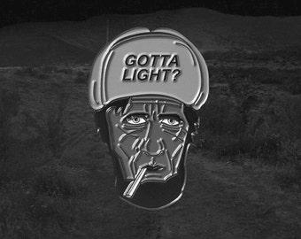 Gotta Light? Twin Peaks woodsman enamel pin