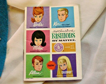 60's Barbie *EXCLUSIVE FASHIONS BOOKLET* Book 1 -Vintage