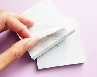 Marble Concrete Sticky Notes - Memo/Post-It/Tabs