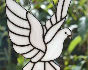 Peace Dove (Large) -  Stained Glass Suncatcher
