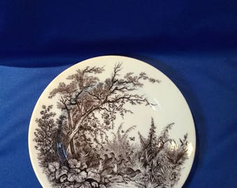 French Transfer Ware Plate, Sarreguemines 1880'