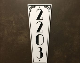 Art Deco Style Address Sign