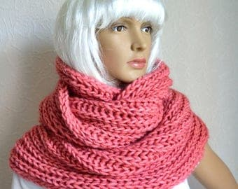 Hand knitted women's snood - scarf