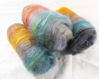 Art Batt, Autumn colours, drum carded batt