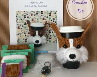 Crochet Pattern Dog - Crocket Kit - Amigurumi Kit - Crochet Starter Kit - Crochet Gifts - Crochet Dog Pattern - Dog Crochet Pattern - Corgi