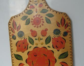 Vintage Soviet Wooden Cutting Board USSR 1987
