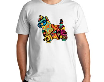 Psychedelic Norwich Terrier T-Shirt