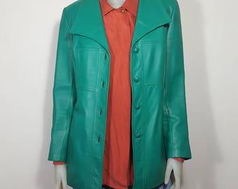 Leather 70s jacket size S