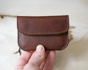 Pouch Wallet, Oak Bark Wallet, J and FJ Baker, Russian Kip Leather, Leather Wallet, Mens Leather Wallet, Handmade Wallet, Minimalist Wallet