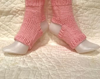 Flip flops  Cotton Yoga Socks  Toeless  Pilates dance pedicure hand knit handmade