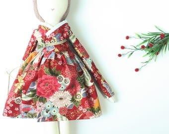 Limited Edition Kimono Doll, Rag Dolls , Cloth Dolls , Fabric Dolls, Art Dolls, Kids craft, Kids Doll