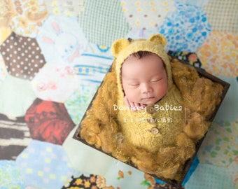 Gold Sparkle Fluff - newborn photo prop - shimmery basket stuffer - Christmas - St. Patrick's Day