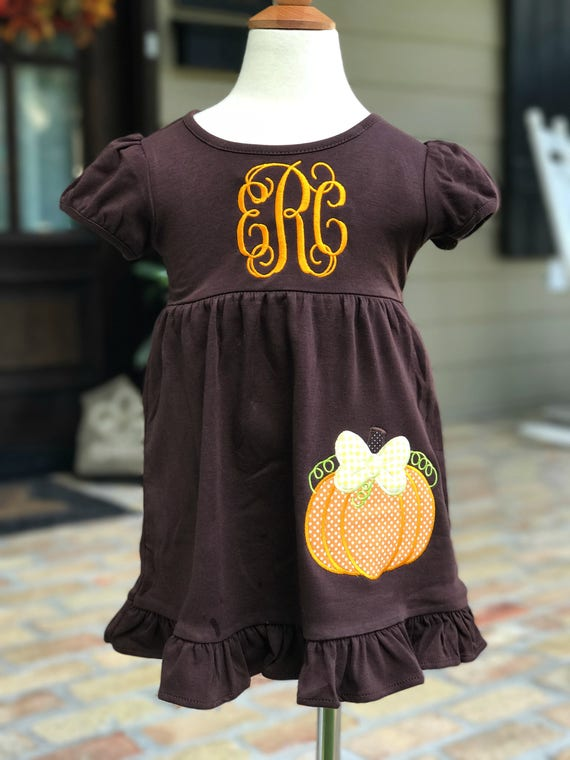 Little Pumpkin Monogrammed Dress
