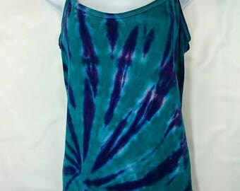 Tie dye vest, XXL tie dye vest, Women's vest top, Purple vest top, Ladies vest top, Alternative vest, Festival vest, size 16-18 UK vest