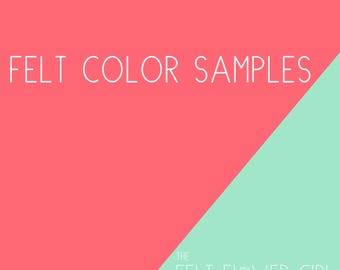 Complimentary Felt Color Samples