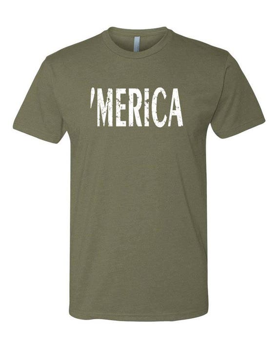 MERICA Mens Shirt, 4th of July Shirt, Independence Day Shirt, USA Shirt, America Shirt, 4th of July Shirt for Men, Funny Tees, Gift for Him