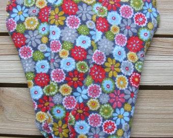 Pocket cloth pads-Set of 3-regular/heavy/light flow-100% cotton flannel flowers