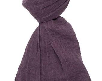 Pure linen scarf, dark purple, 100 % linen scarf, dusty purple scarf, summer scarf, summer shawl, women scarf, linen shawl, linen wrap