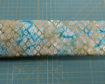 "Batik fabric Dijon Aqua. Rain Forest Balis. 60"" inch wide. blue quilters quilting cotton Benartex 3648"