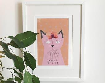 Georgia O'Cat Print