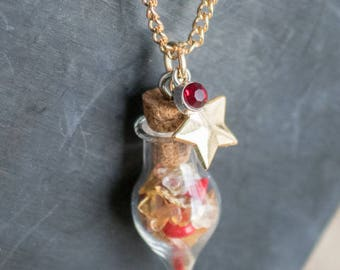 Hogwarts House Gemstone Vial Necklaces