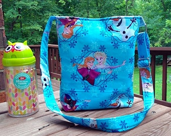 Kids' Disney Frozen Elsa Crossbody Bag Adjustable Strap
