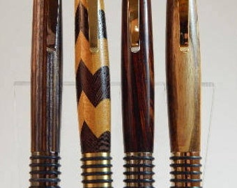 Easter gift, for him, Wood ballpoint pen, wood pen, brown wood ballpoint pen, maple wood ballpoint pen, antique finished wood ballpoint