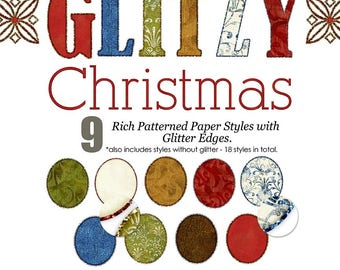 Glitzy Christmas Photoshop Layer Styles - AFT DESIGNS instant download, planner, scrapbook, winter, Christmas, pse, ps, glitter