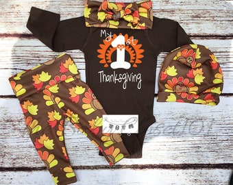 Unisex,My First Thanksgiving,Baby Thanksgiving Outfit,newborn thanksgiving outfit,first thanksgiving outfit,Babies First Thanksgiving,Turkey