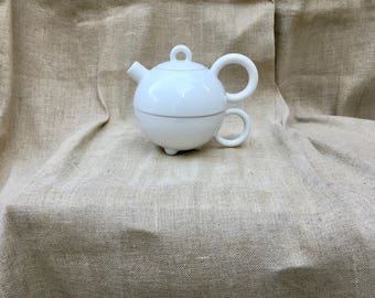 Matteo Thun Designed Tea for One made by Arzeberg Porcelain 80's Memphis Group